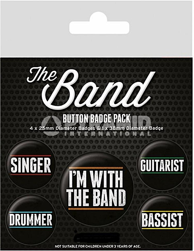 Members of the Band 5 round Pin Badges in Pack (py)