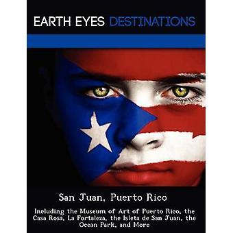 San Juan Puerto Rico incluindo o Museu de arte de Porto Rico, a Casa Rosa La Fortaleza do Isleta de San Juan o Ocean Park e mais pela noite & Sam