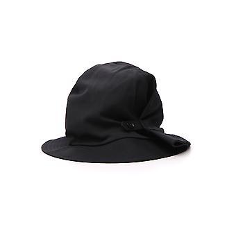 Yohji Yamamoto Black Cotton Hat