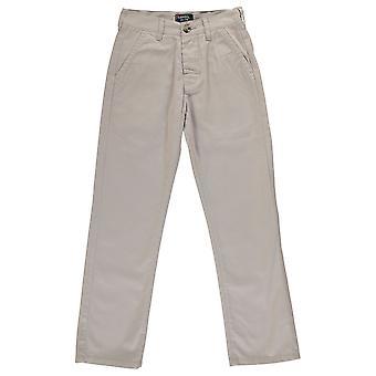 Kangol Kids niños Juniors Chino los pantalones vaqueros de color caqui Casual pantalones todos los días