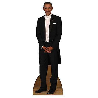 Prezydent Barack Obama Tuxedo Lifesize tektury wyłącznik / Standee / Standup