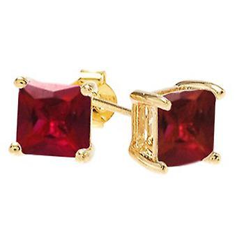 Ah! Bijouterie carré rubis cristaux de Swarovski Studs