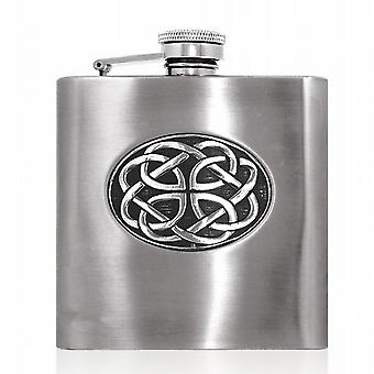 6oz Stainless Flask With Celtic Disk - Cel852
