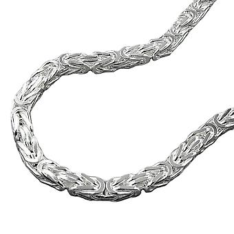 Armband square glanzend 4mm koning ketting zilver 925 21 cm