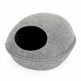 HooP Kattbädd with pillow, grey