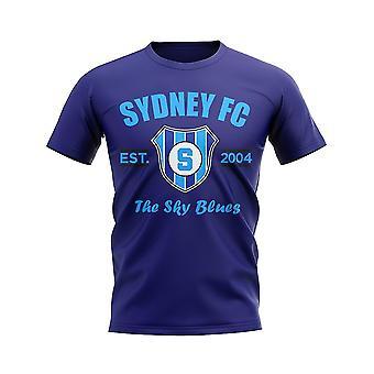Sydney FC etablierte Fußball T-Shirt (Navy)