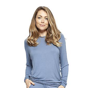 Cyberjammies 4243 Women's Harper Blue Modal Pyjama Top