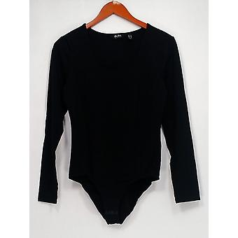 Du Jour Shaper Long Sleeve Scoop Neck Bodysuit Black A295527