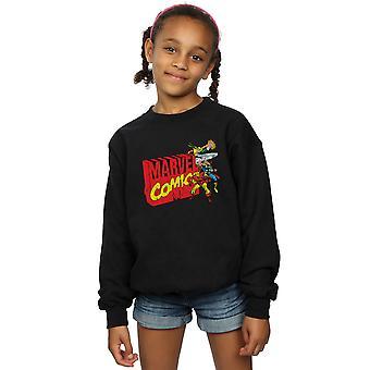 Marvel Comics  Girls Vintage Logo Blast Sweatshirt
