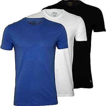 Polo Ralph Lauren 3-Pack Polo Player Crew-Neck T-Shirts, Navy/White/Blue