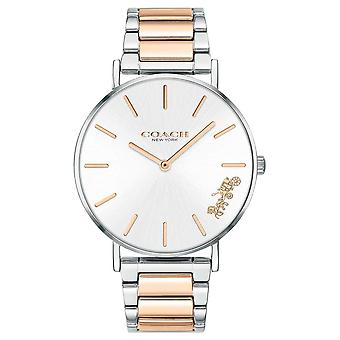 Coach | Womens | Perry | Two Tone Bracelet | Silver Dial | 14503346 Watch