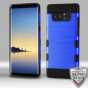 MYBAT Dark Blue/Black Brushed TUFF Trooper Hybrid Protector Cover for Galaxy Note 8