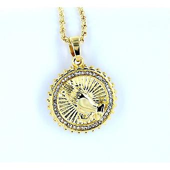 Necklace with pendant Blessing gold pendant