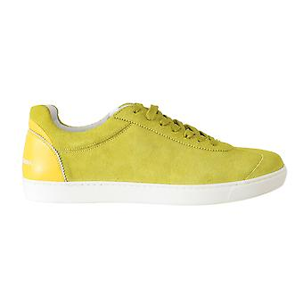 Dolce & Gabbana Yellow Leather Mens Casual Sneakers -- MV20858992