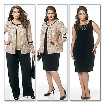 Misses' Women's Jacket, Dress, Skirt And Pants  Rr 18W  20W  22W  24W Pattern B5719  Rr0