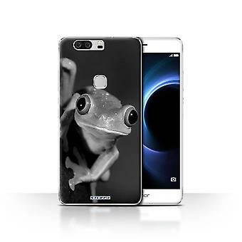 STUFF4 Case/Cover for Huawei Honor V8/Frog/Mono Zoo Animals