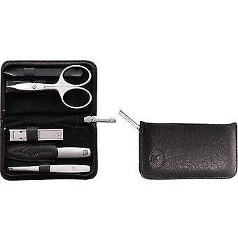 Zwilling Case With Zipper, Yak, Black, 5 Pieces