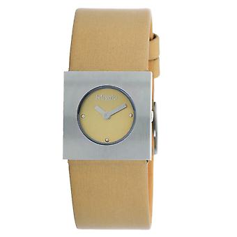 Misaki ladies watch QCRWBERLIN watch leather strap light brown