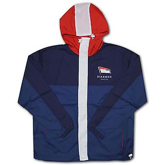 Diamond Supply Co Yacht Windbreaker Jacke Marine