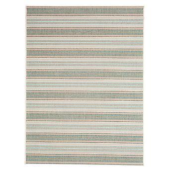 Grøn & blå Anti Slip stribet stue tæppe - Floorit
