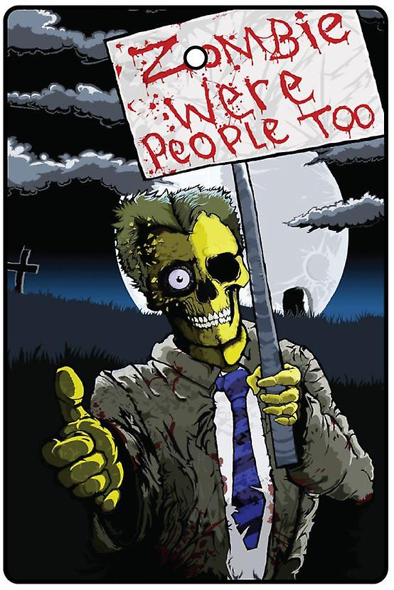 Zombie Protest Car Air Freshener