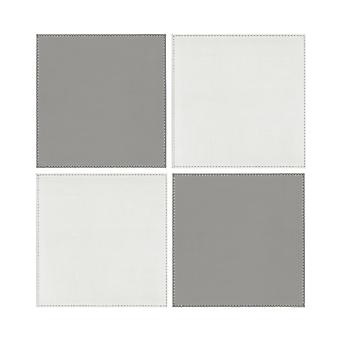 iStyle Reversible White and Grey Placemats