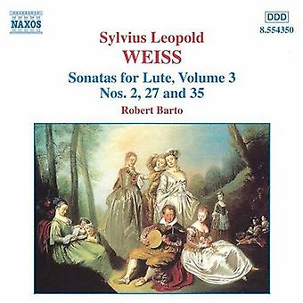 S.L. Weiss - Sylvius Leopold Weiss: Sonates pour luth, importation USA Vol. 3 [CD]