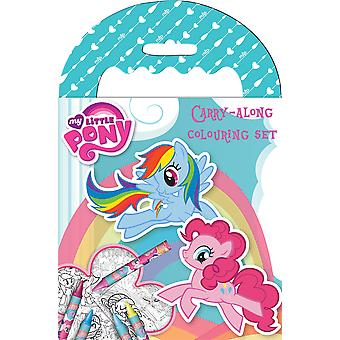 My Little Pony Carry Along Colouring Set with Wax Crayons