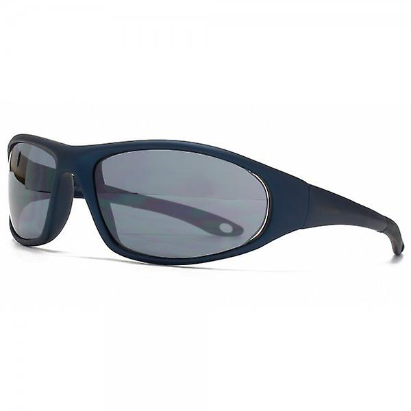 FCUK Sports Wrap Sunglasses In Matte Dark Blue