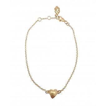 W.A.T Gold Plated 925 Sterling Silver Heart Bracelet By Kissika