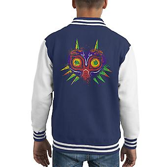 The Legend Of Zelda l'antico male Majoras maschera Varsity Jacket capretto