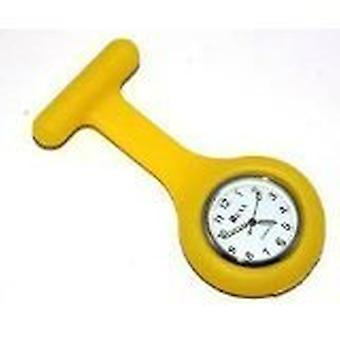 Splinterny mode silikone sygeplejersker broche tunika Fob ur af Boolavard TM. (15 - gul)