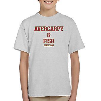 Abercarpie en vis Abercrombie en Fitch stijl Kid's T-Shirt
