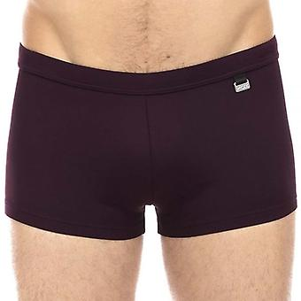 HOM Marina Swim Shorts, Red Wine, X-Large