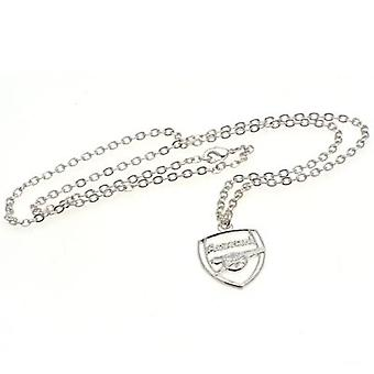 Arsenal Silver Plated Pendant & Chain CR