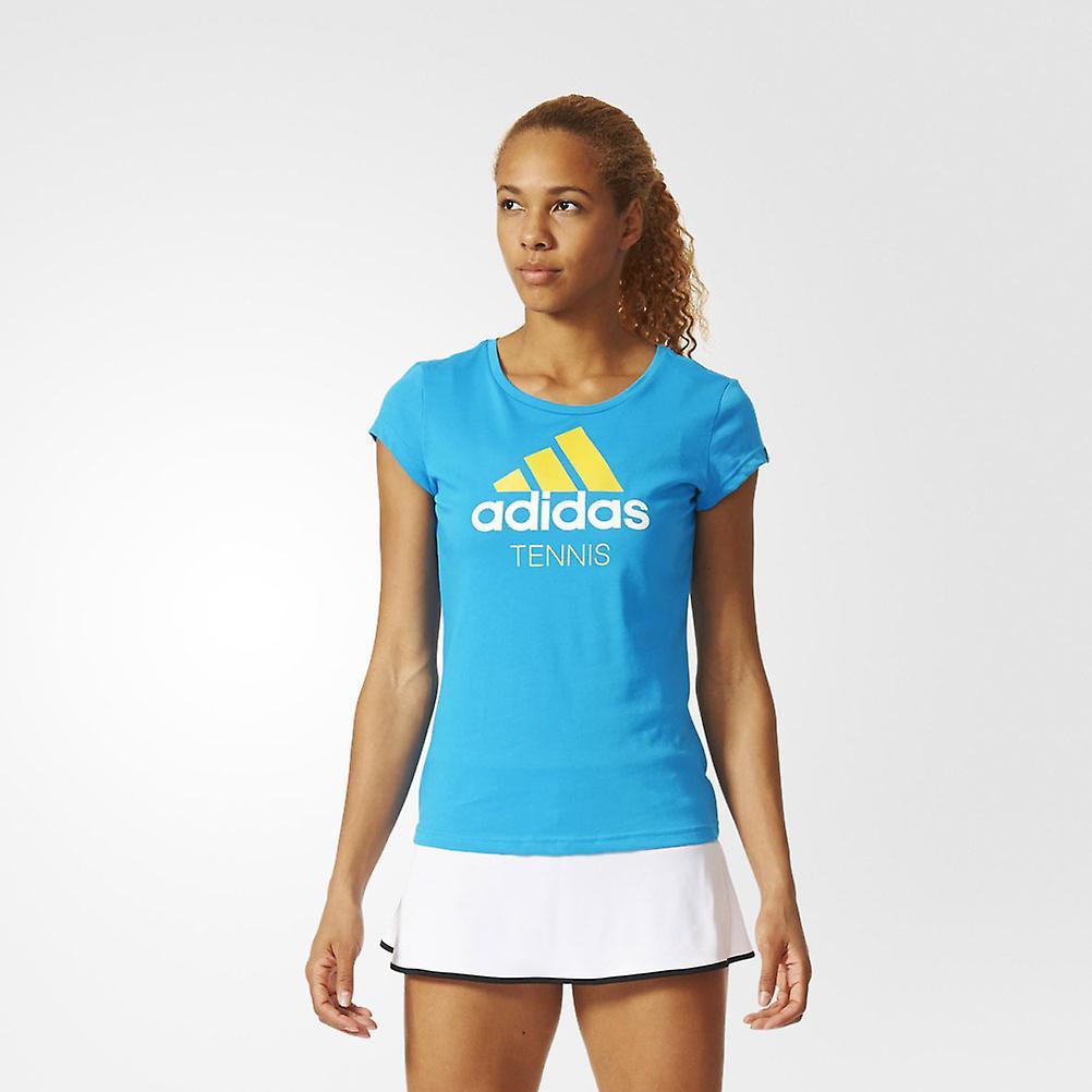 ADIDAS ladies climalite crew neck tennis t-shirt [solar blue]