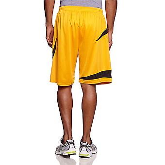 SPALDING basketball logo training shorts [yellow]