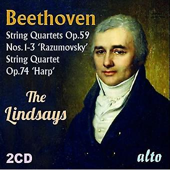 The Lindsays - Beethoven: String Quartets Op. 59 [CD] USA import