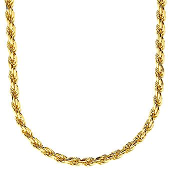 Sterling 925 Silver bling cord chain - ROPE DC 4 mm gold