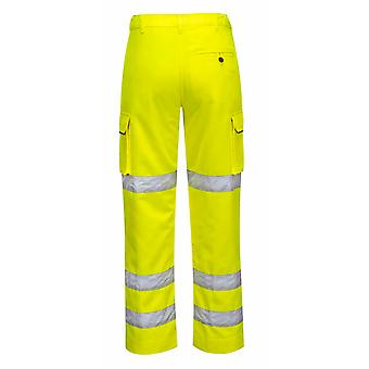 Portwest - Ladies Hi-Vis Safety Workwear Polycotton Trousers