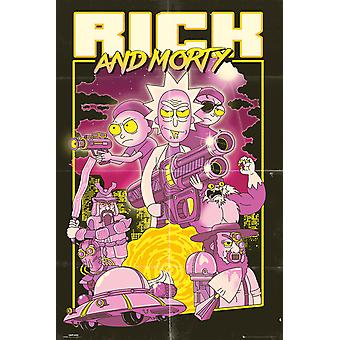 Rick und Morty Actionfilm Maxi Poster