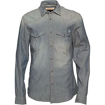 Jack and Jones Western Beaverton Grey Casual Shirt