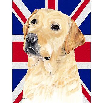 Labrador mit englischen Union Jack britische Flagge Fahne Leinwandgröße Haus