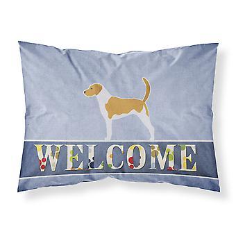 American Foxhound tissu Bienvenue taie d'oreiller Standard