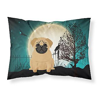 Halloween Scary Pug Brown Fabric Standard Pillowcase