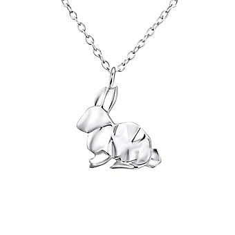 Origami Rabbit - 925 Sterling Silver Plain Necklaces - W26038x