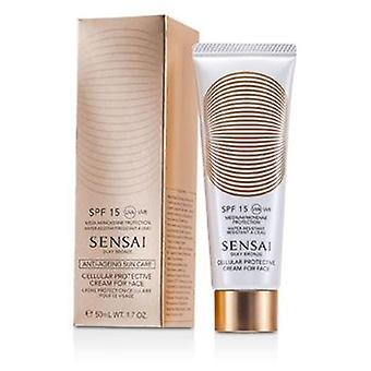 Kanebo Sensai Silky Bronze Cellular Protective Cream For Face SPF 15 - 50ml/1.7oz