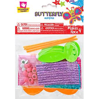 Butterfly Stickers Craft Kit 4/Pkg-  7066S