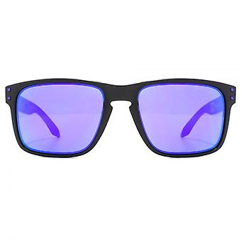 Oakley Holbrook Sunglasses In Matte Black Julian Wilson Violet Iridium
