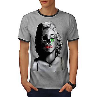 Griezelig Celebrity mannen Heather Grey / Heather donkere T-shirt van de GreyRinger | Wellcoda